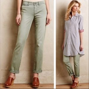 Anthropologie Pilcro Hyphen Chino Pants Sage Green